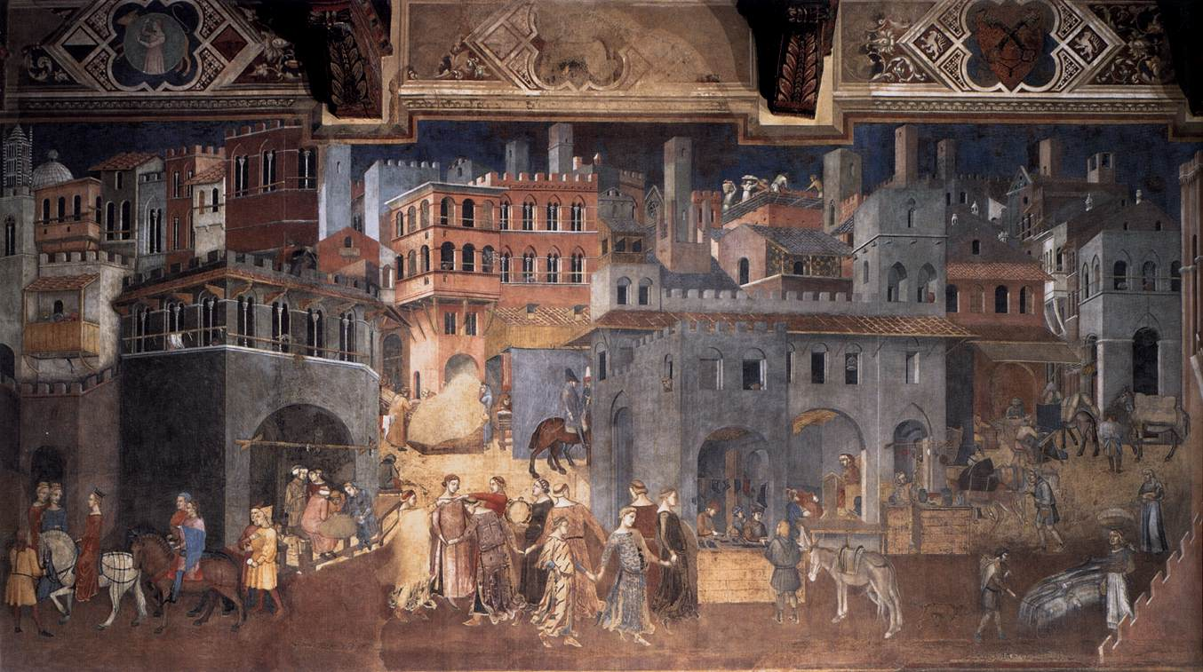 Sala Dei Nove Palazzo Pubblico Siena.Web Gallery Of Art Searchable Fine Arts Image Database