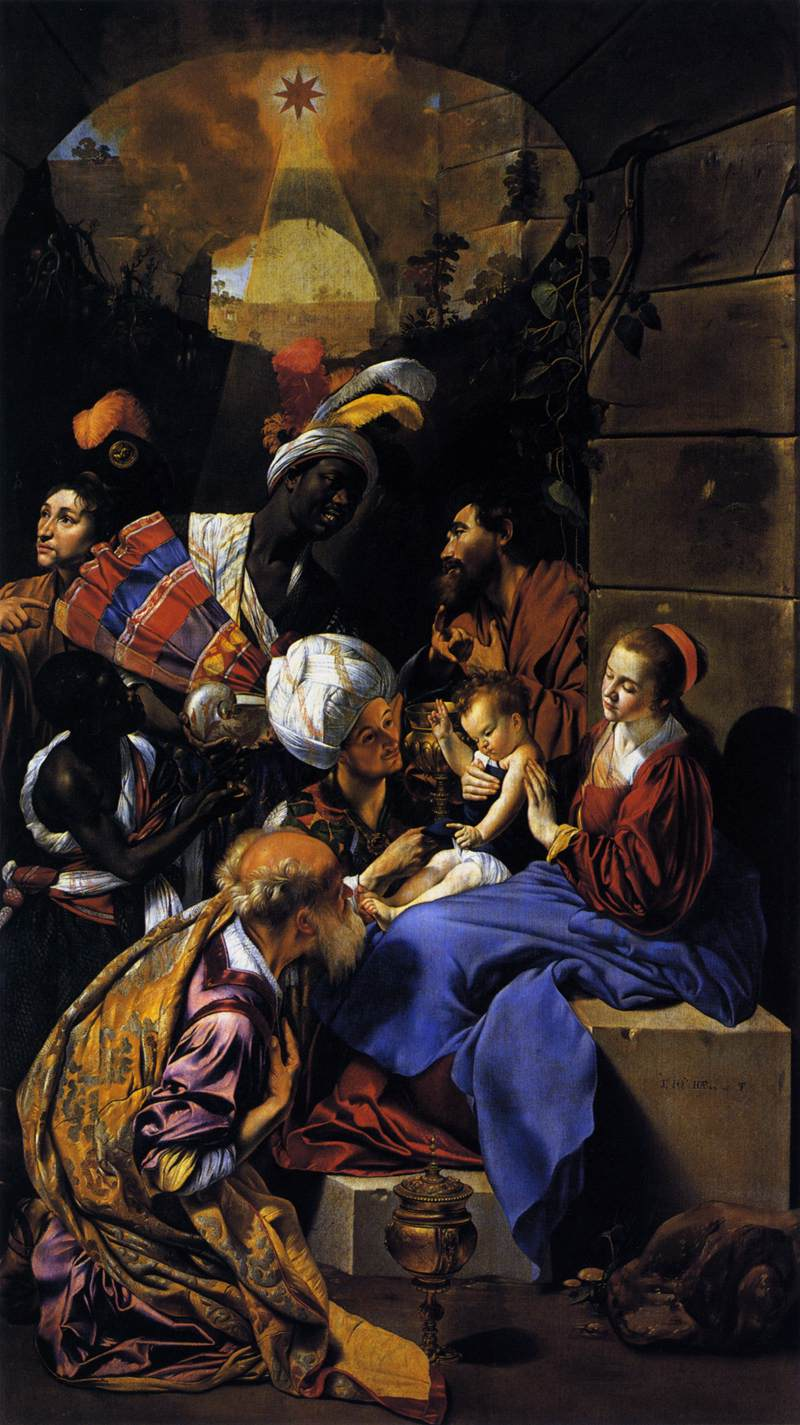 Magi visit Baby Jesus. Image located on Web Gallery of Art at https://www.wga.hu.
