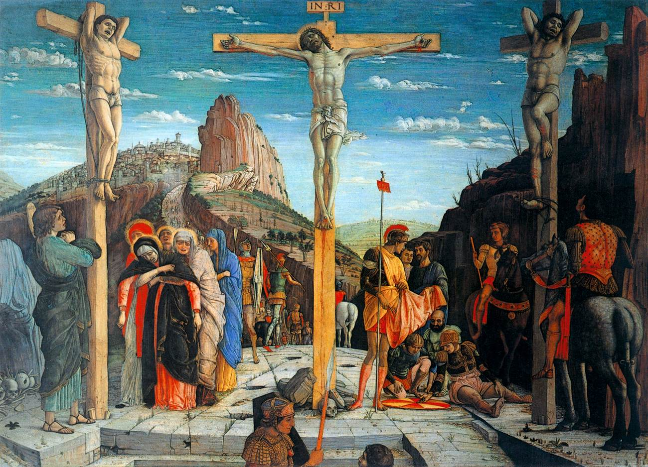 Famous Painting Of The Crucifixion At The Louvre