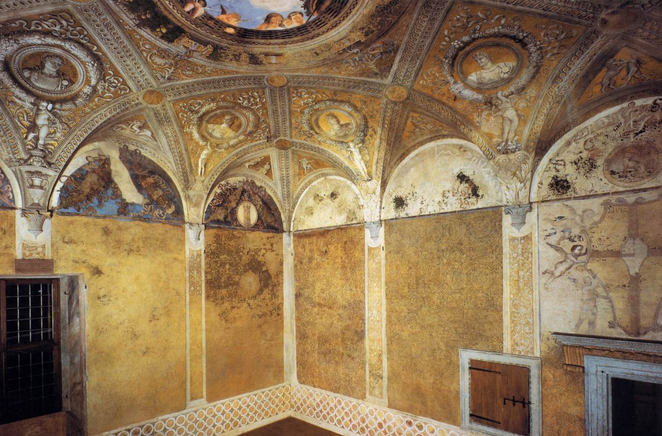 View of the south and east walls by mantegna andrea for Camera degli sposi palazzo ducale