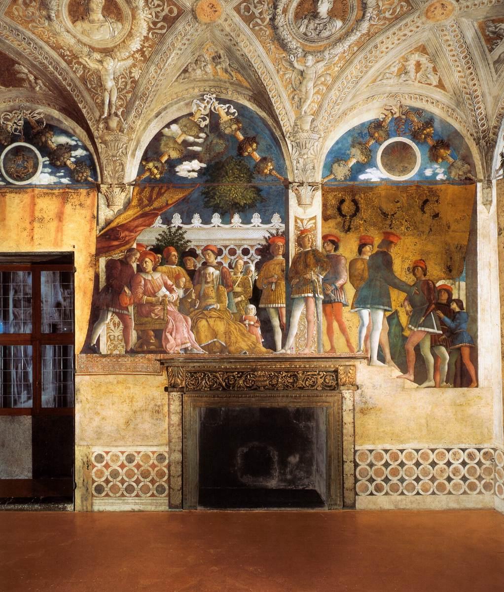 Frescoes in the camera degli sposi ducal palace mantua for Mantegna camera degli sposi palazzo ducale