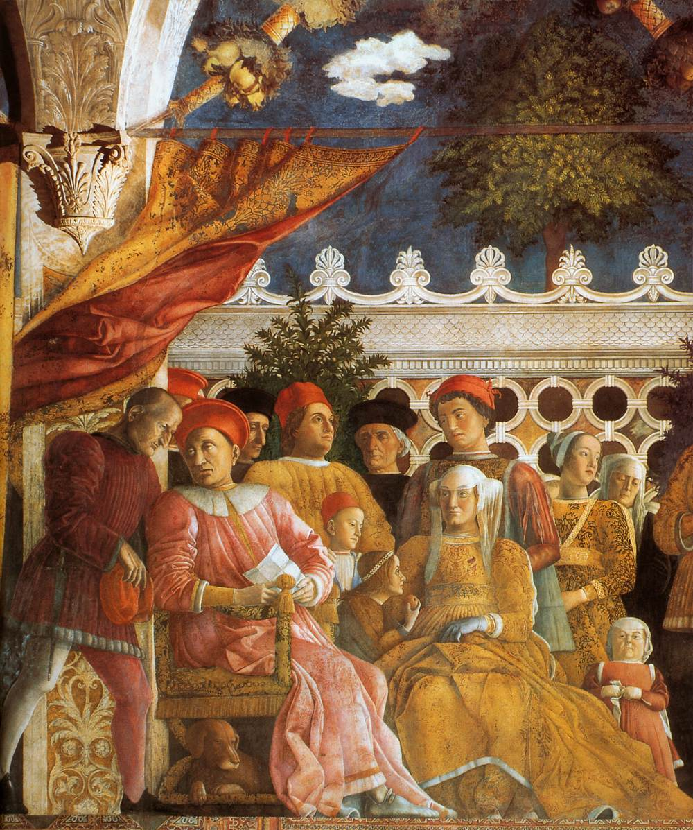 The court of gonzaga detail by mantegna andrea for Camera picta mantova