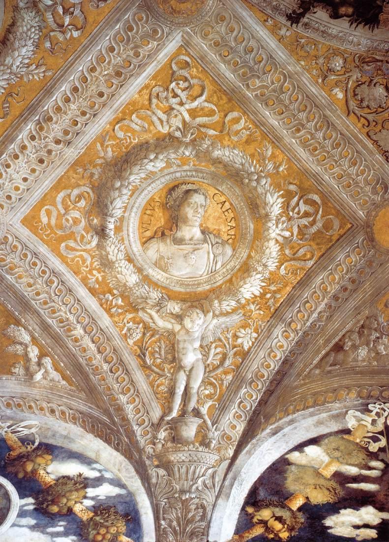 Ceiling decoration detail by mantegna andrea for Mantova palazzo ducale camera degli sposi