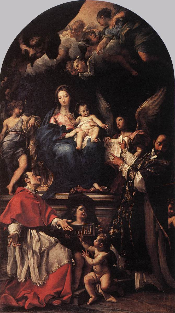 art day madonna and child enthroned angels and saints