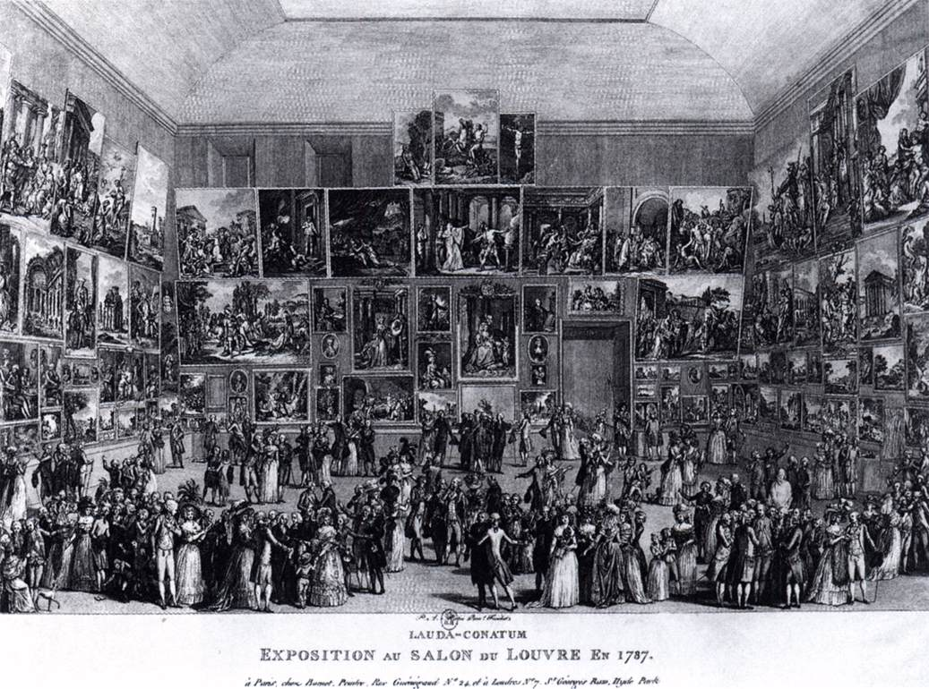 exposition au salon du louvre en 1787 by martini pietro