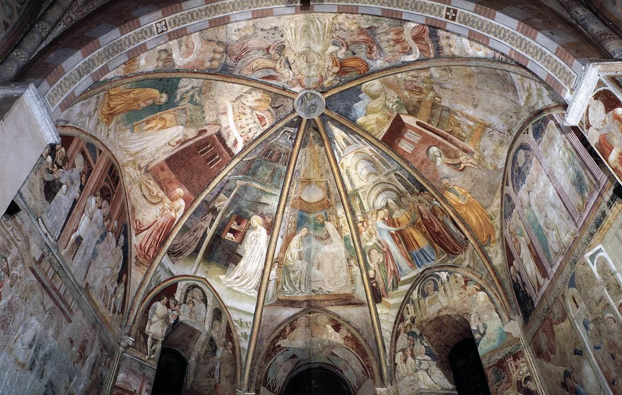 Frescoes in the baptistery and collegiata castiglione for Galimberti arredamenti castiglione olona