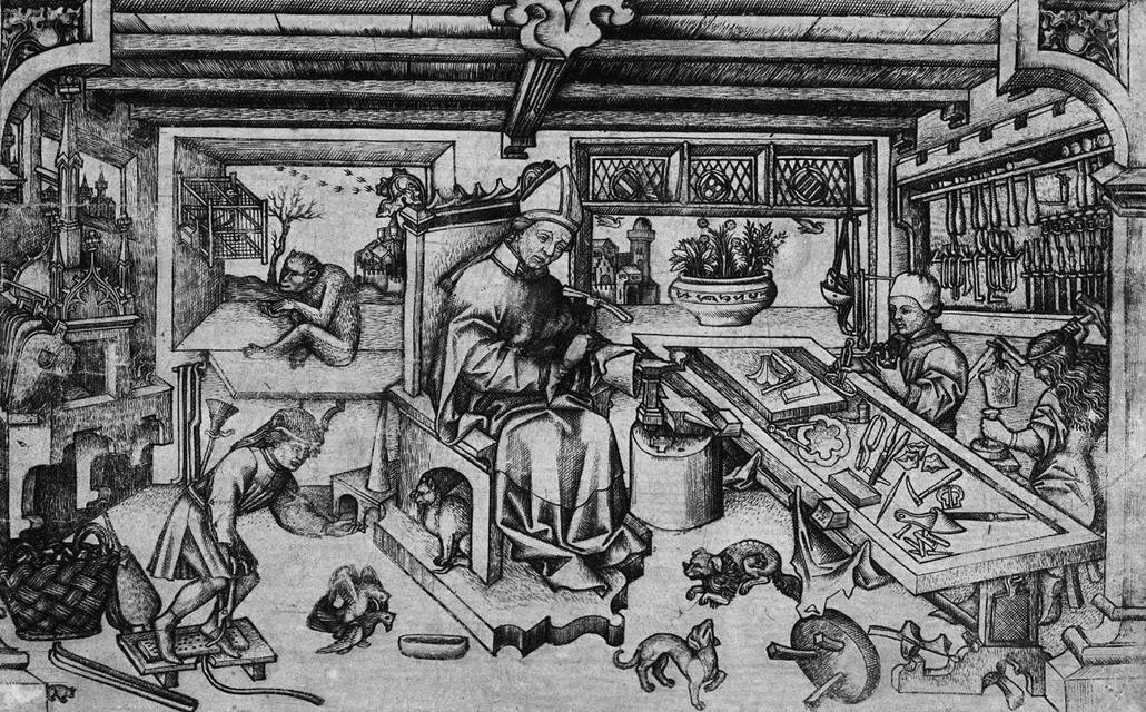 St Eligius In His Workshop By Master Of Balaam