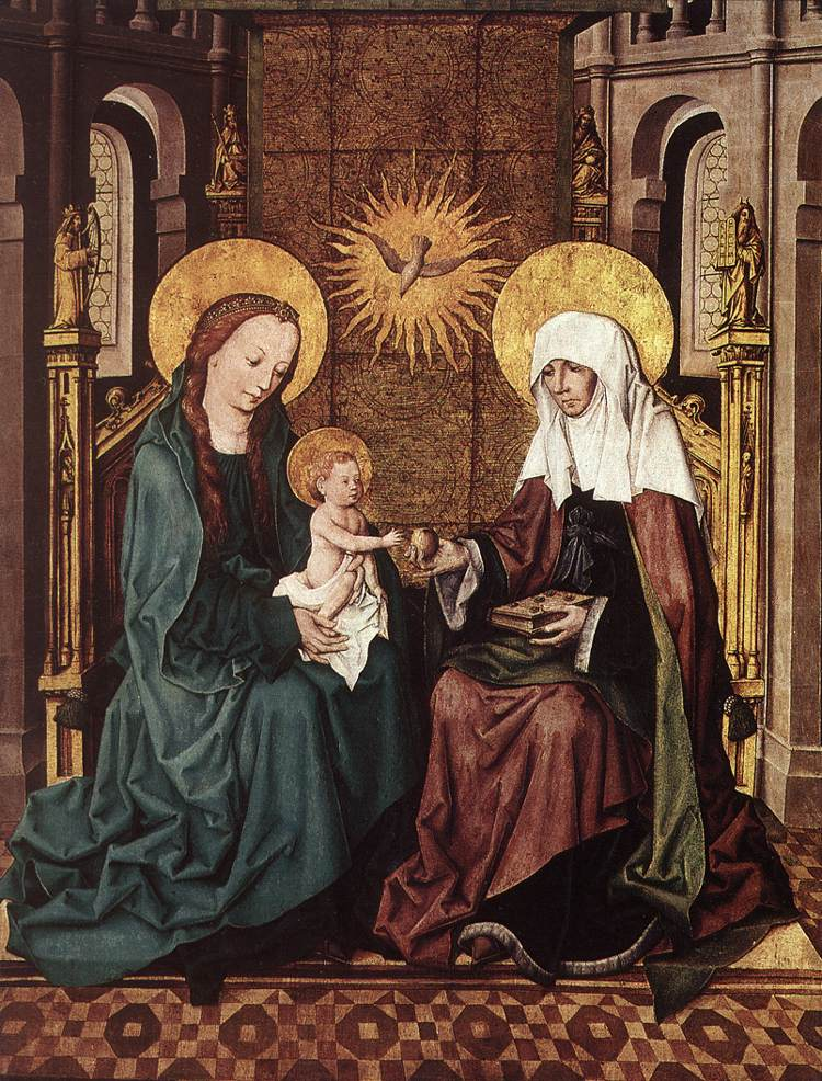 the virgin and st anne with Madonna and child with st anne da vinci's madonna and child with saint anne reveals an endearing family scene rich with displays of intimate tenderness and affection.