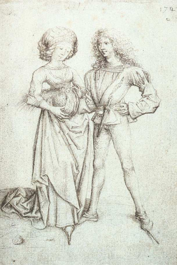 MASTER of the Housebook Standing Couple c1480