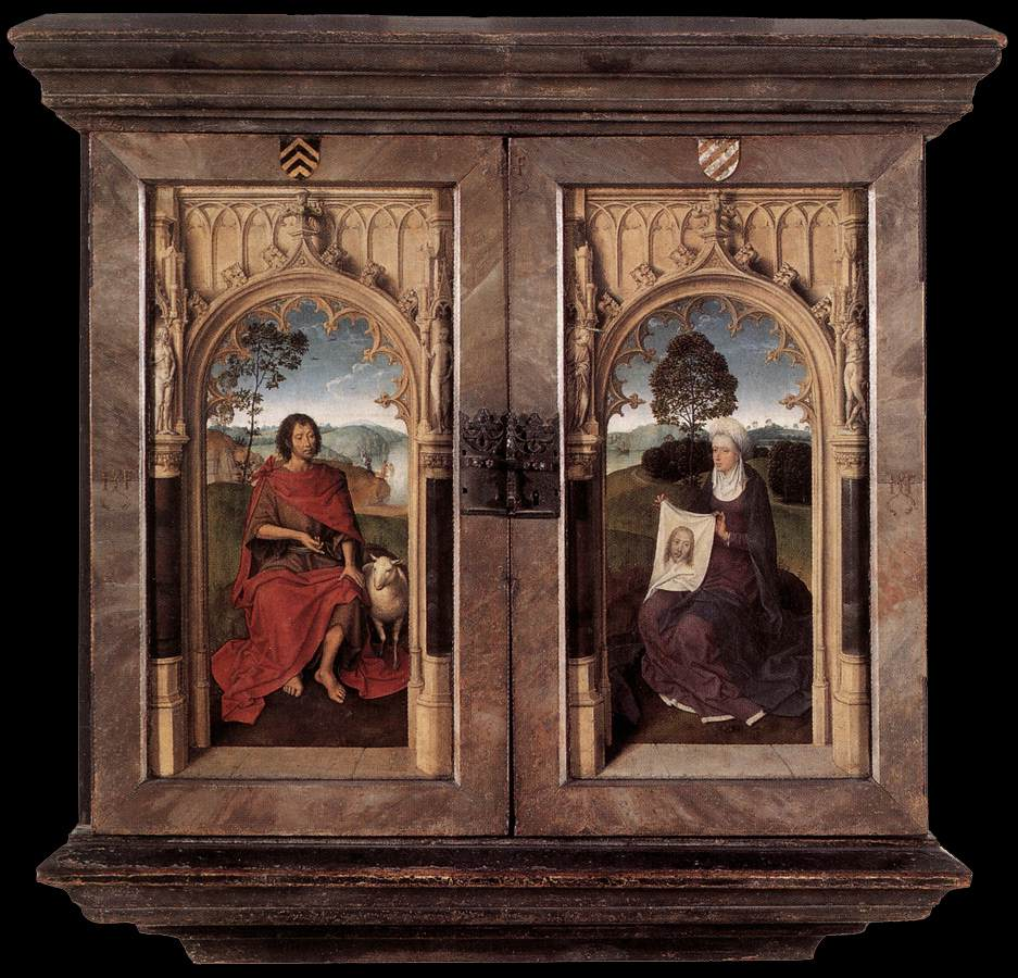 triptych of jan floreins reverse by memling hans. Black Bedroom Furniture Sets. Home Design Ideas