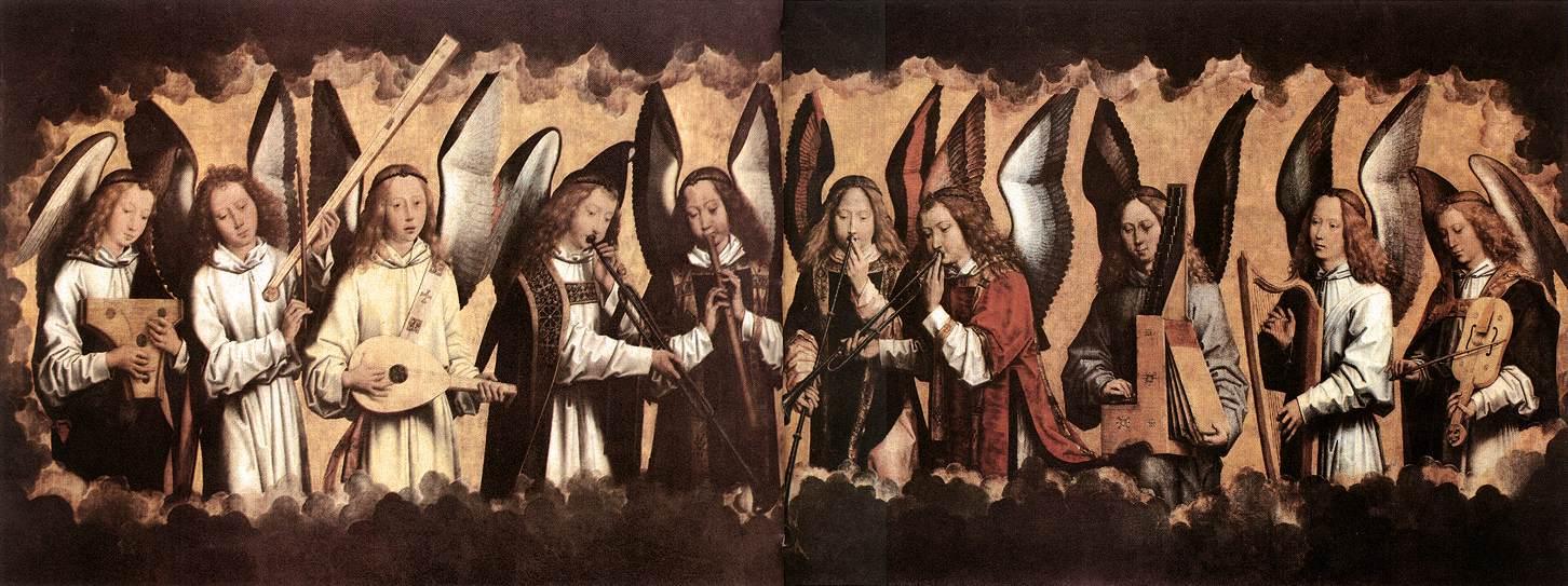 MEMLING, Hans Musician Angels 1485
