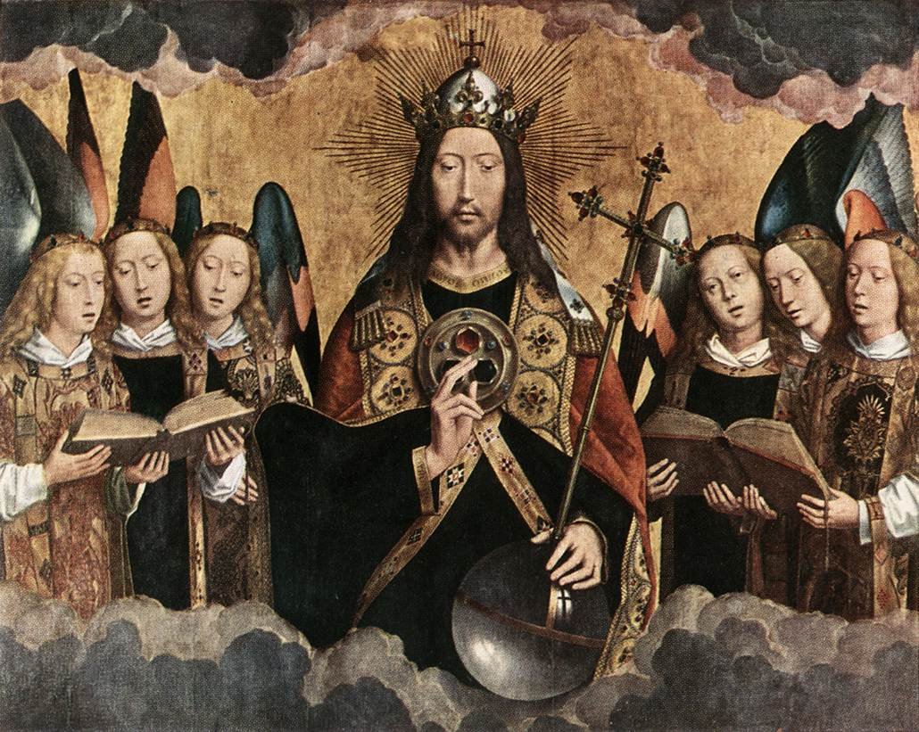 Christ Surrounded by Musician Angels