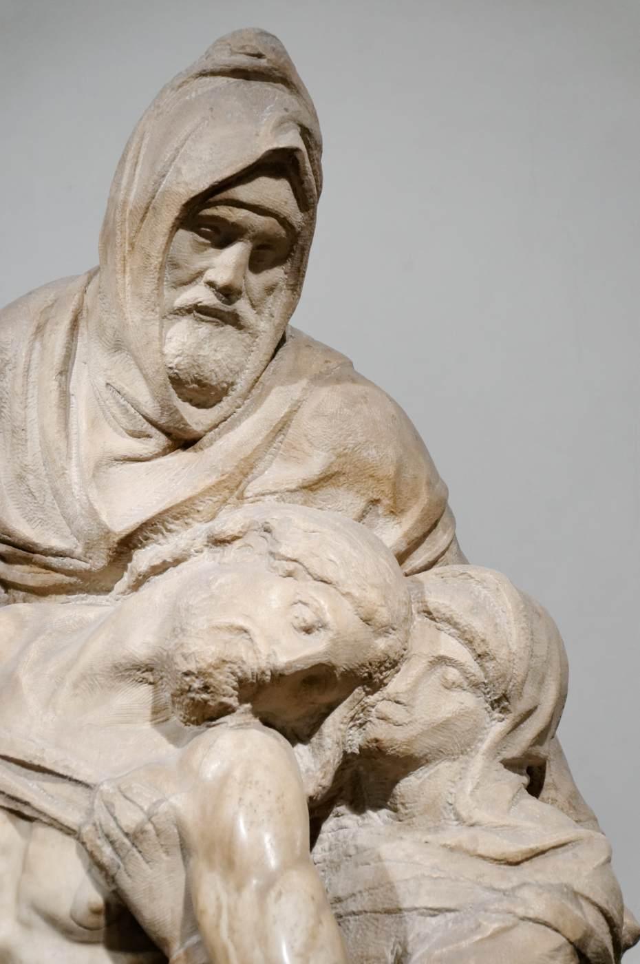 Pietà (detail) by MICHELANGELO Buonarroti
