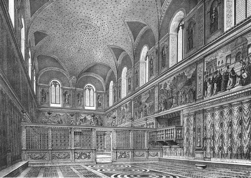 Reconstruction Of The Interior By Michelangelo Buonarroti