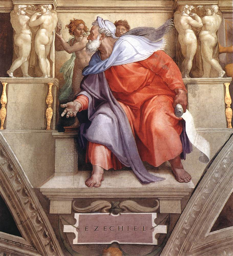 File:Michelangelo, profeti, Ezekiel 01.jpg - Wikimedia Commons Zechariah The Prophet