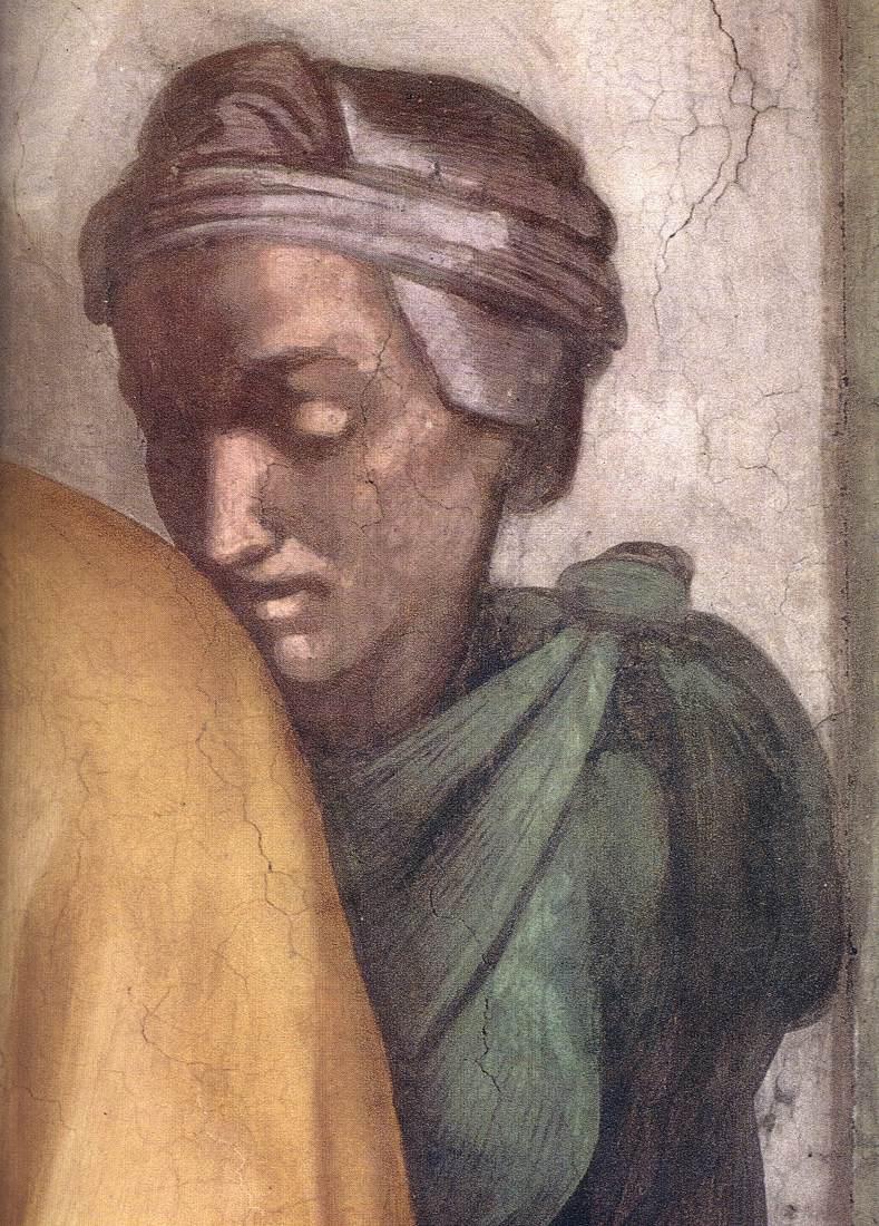 MICHELANGELO Buonarroti Wife of Jacob 1511-12