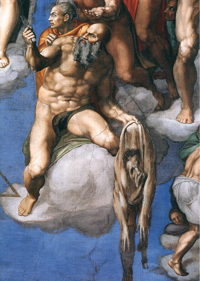 Last Judgment (detail) by MICHELANGELO Buonarroti