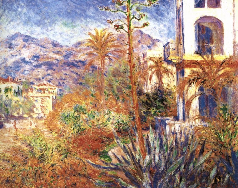 Villas in Bordighera by MONET, Claude