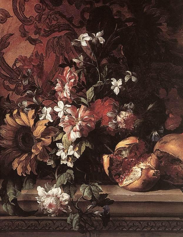 Flowers by MONNOYER, Jean-Baptiste