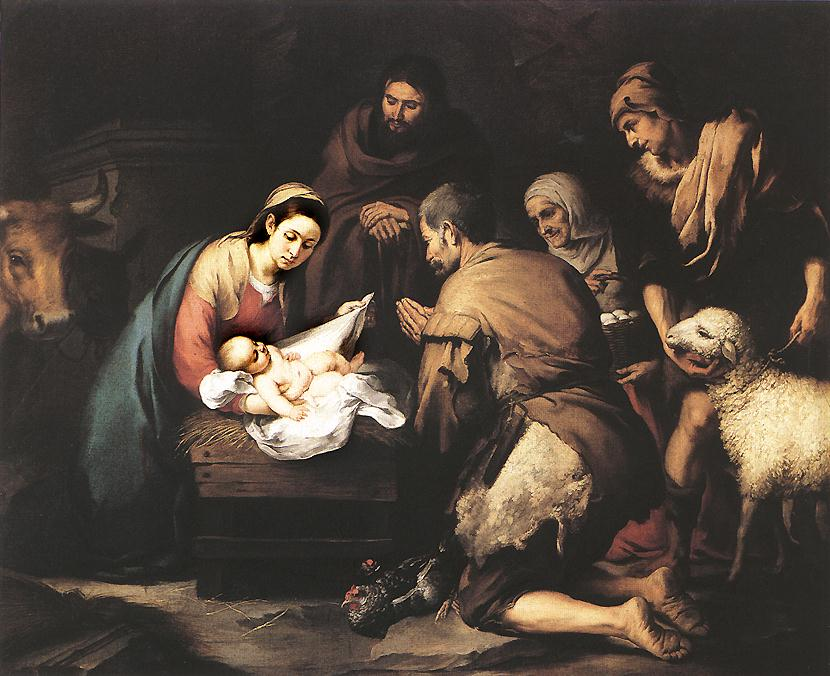 Shepherds visit Baby Jesus. Image located on Web Gallery of Art at https://www.wga.hu.
