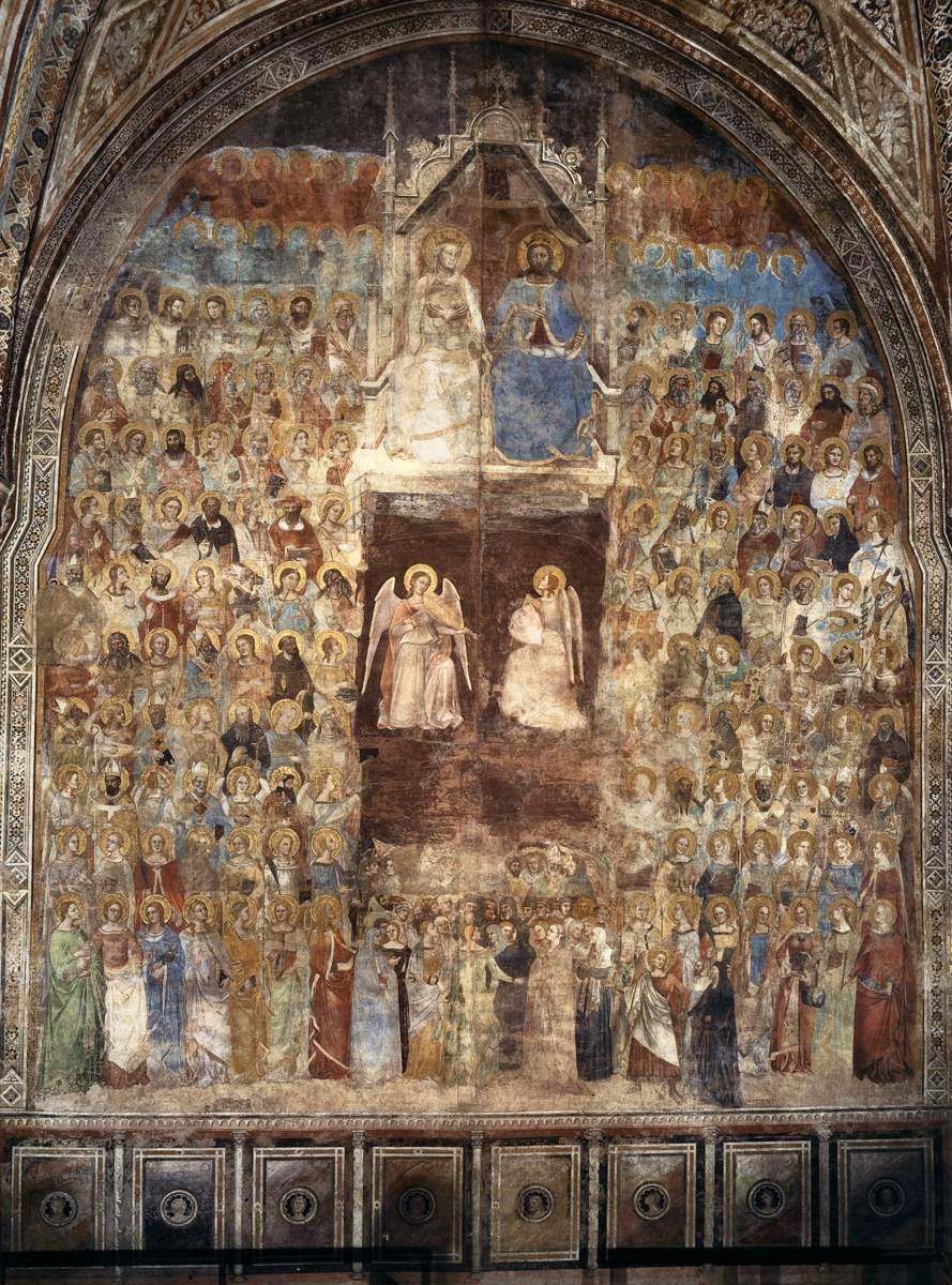 Frescoes of a sextenary chapel