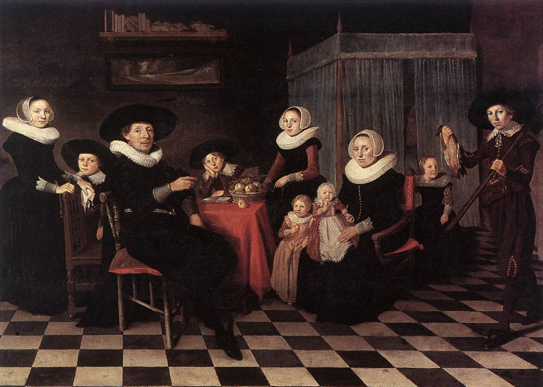 Family portrait 1635 oil on panel 80 x 107 cm koninklijk museum