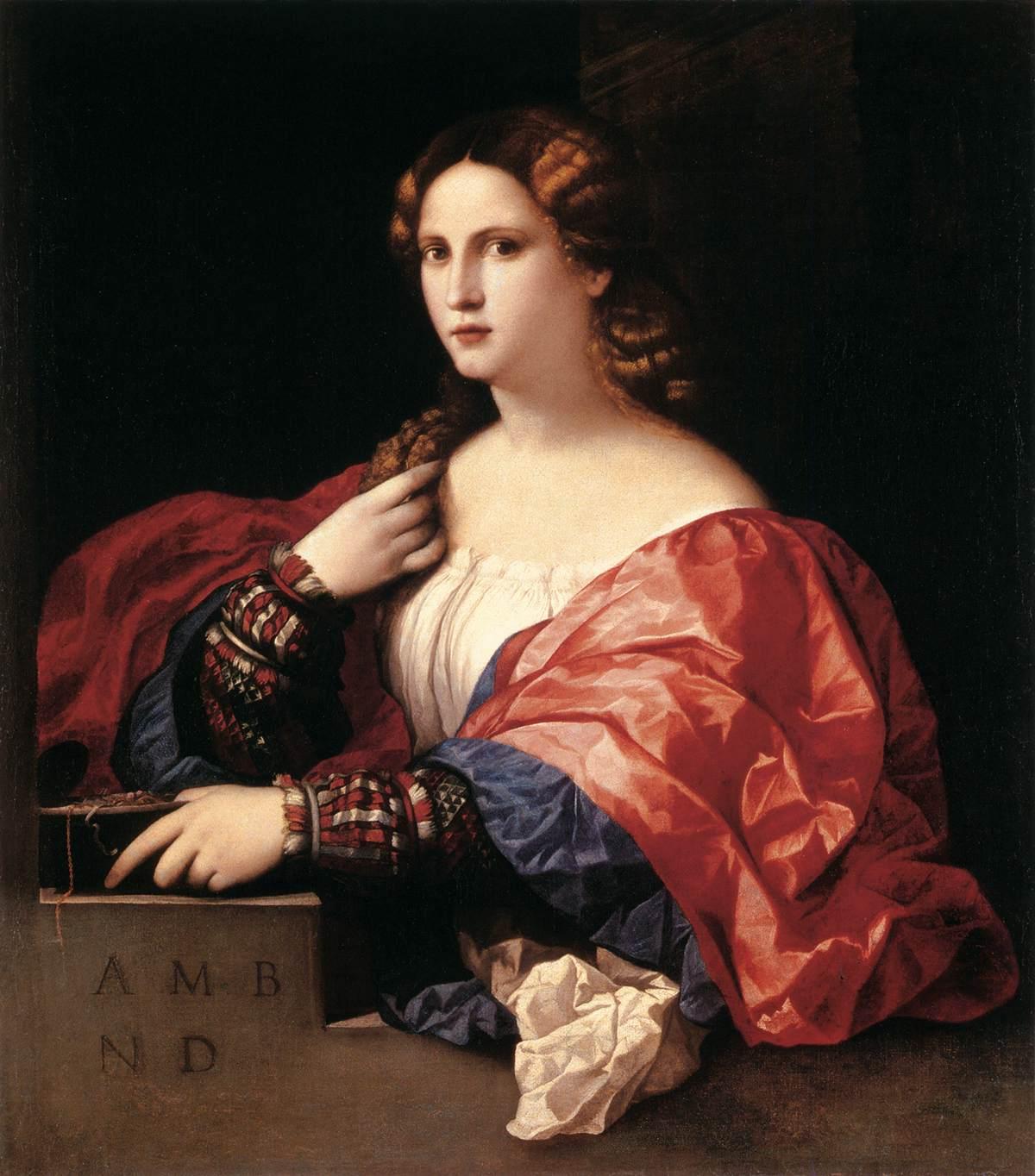 Portrait Of A Woman La Bella By Palma Vecchio