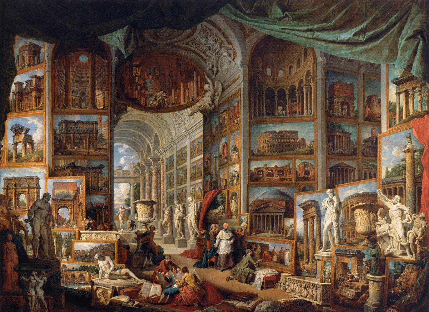 Gallery of Views of Ancient Rome by PANNINI, Giovanni Paolo