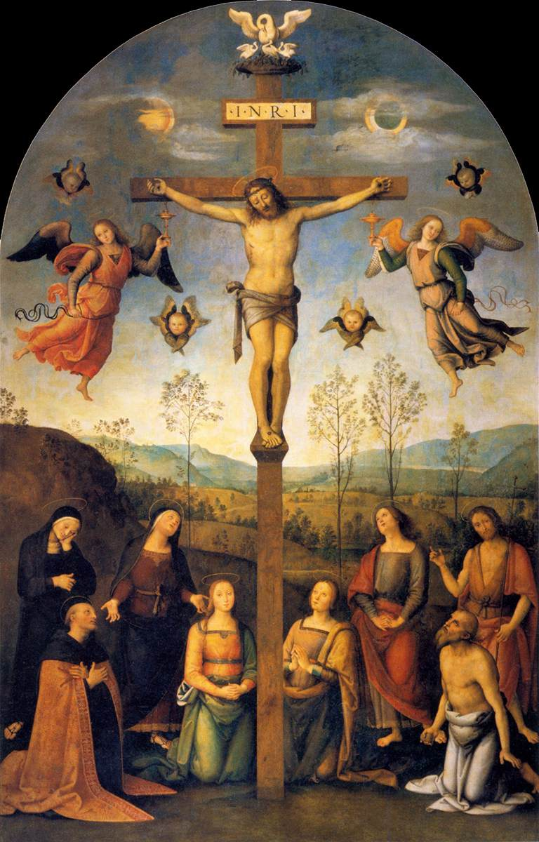 The Crucified Lovers: PERUGINO, Pietro Crucifixion 1503-06 Oil On Wood, 400 X