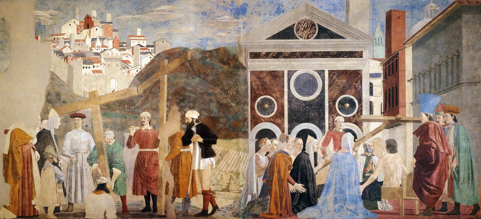 Знаменитая фреска о животворящем кресте в базилике Сан-Франческо, Ареццо, Италия