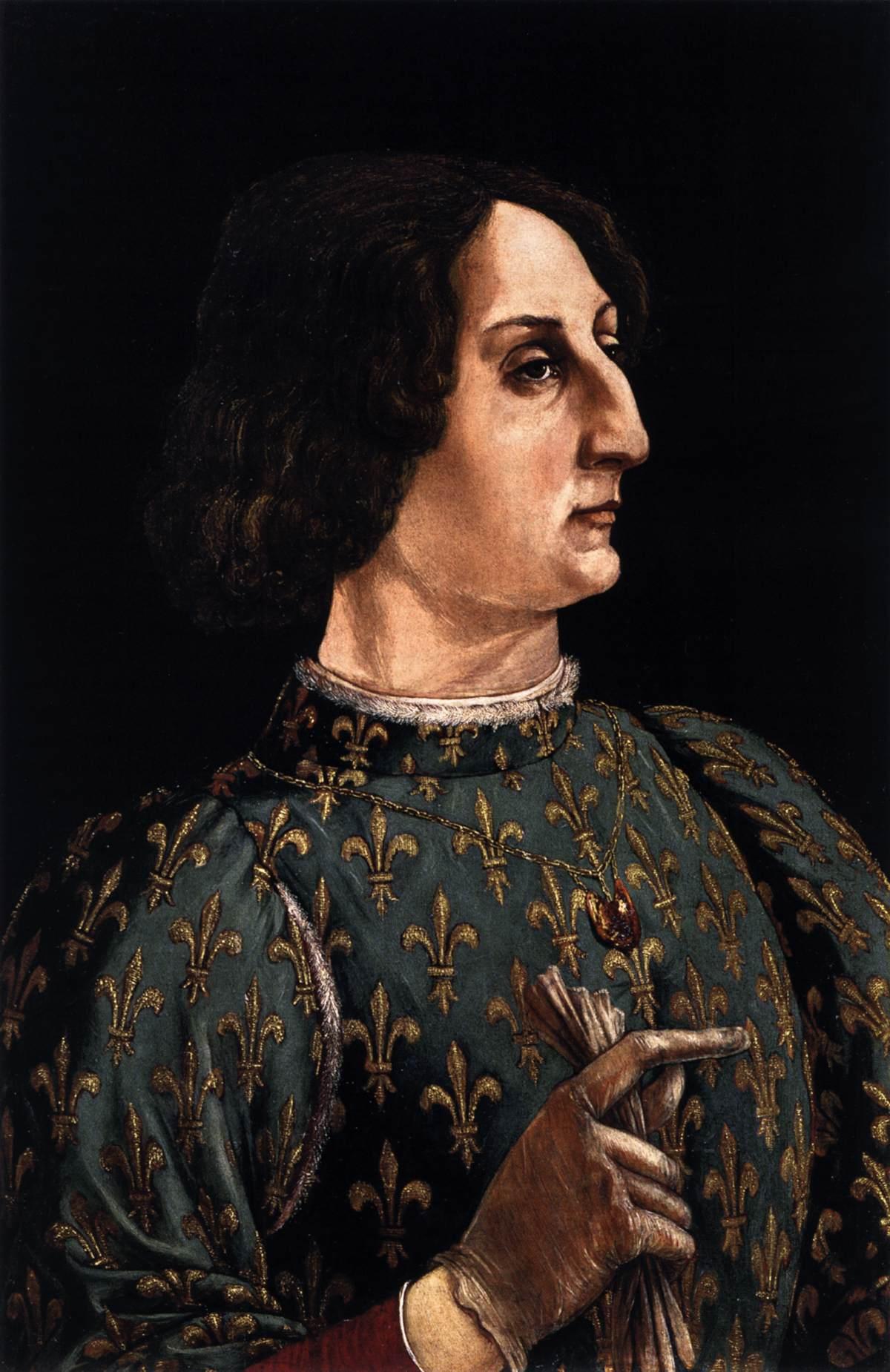 File:Piero Pollaiuolo Portrait of Galeazzo Maria Sforza.jpg ...