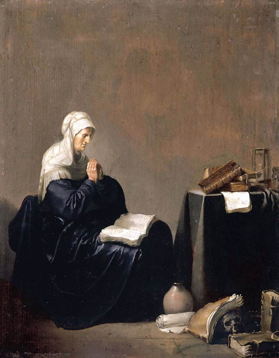 A Woman Praying By Poorter Willem De