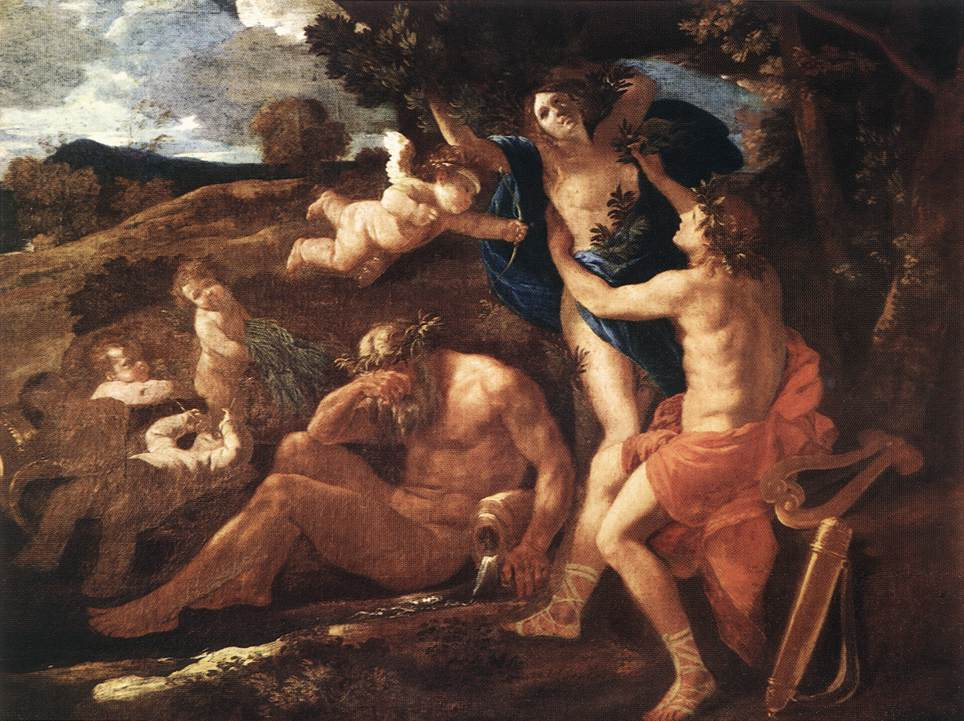 Apollo and Daphne by POUSSIN, Nicolas