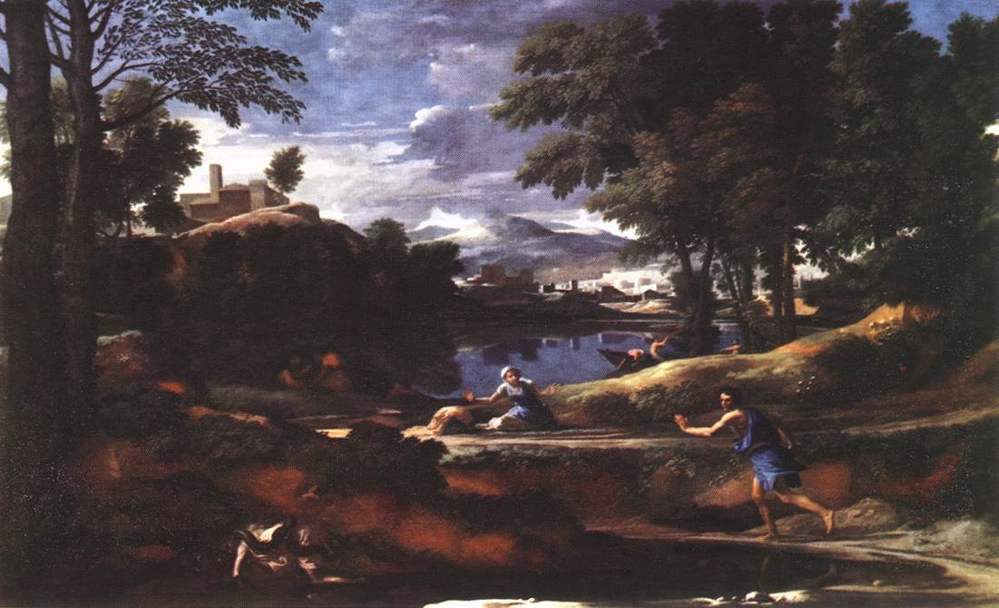 Landscape with a Man Killed by a Snake by POUSSIN, Nicolas