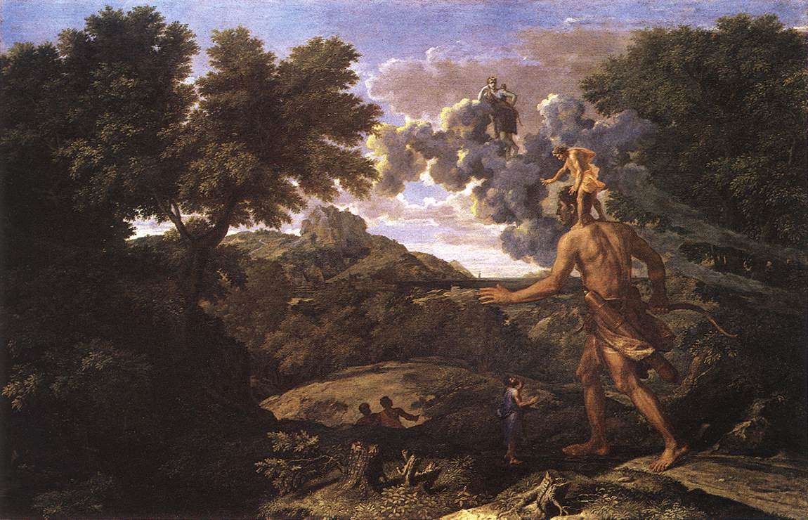 landscape with diana and orion by poussin nicolas. Black Bedroom Furniture Sets. Home Design Ideas