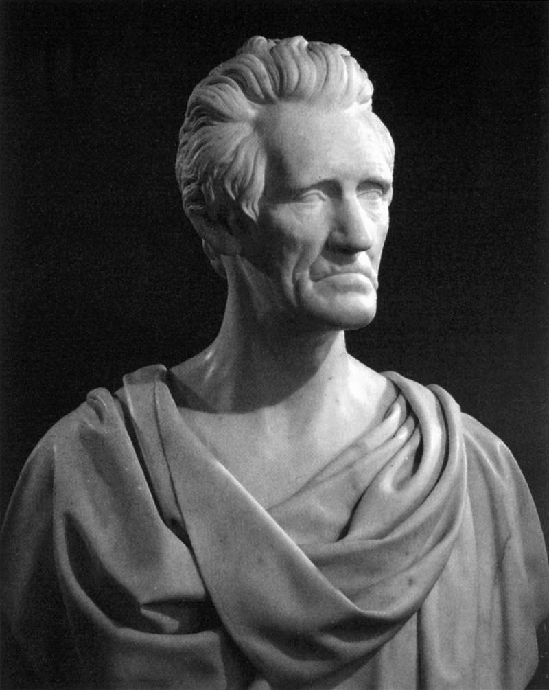 Bust Of General Andrew Jackson By Powers Hiram