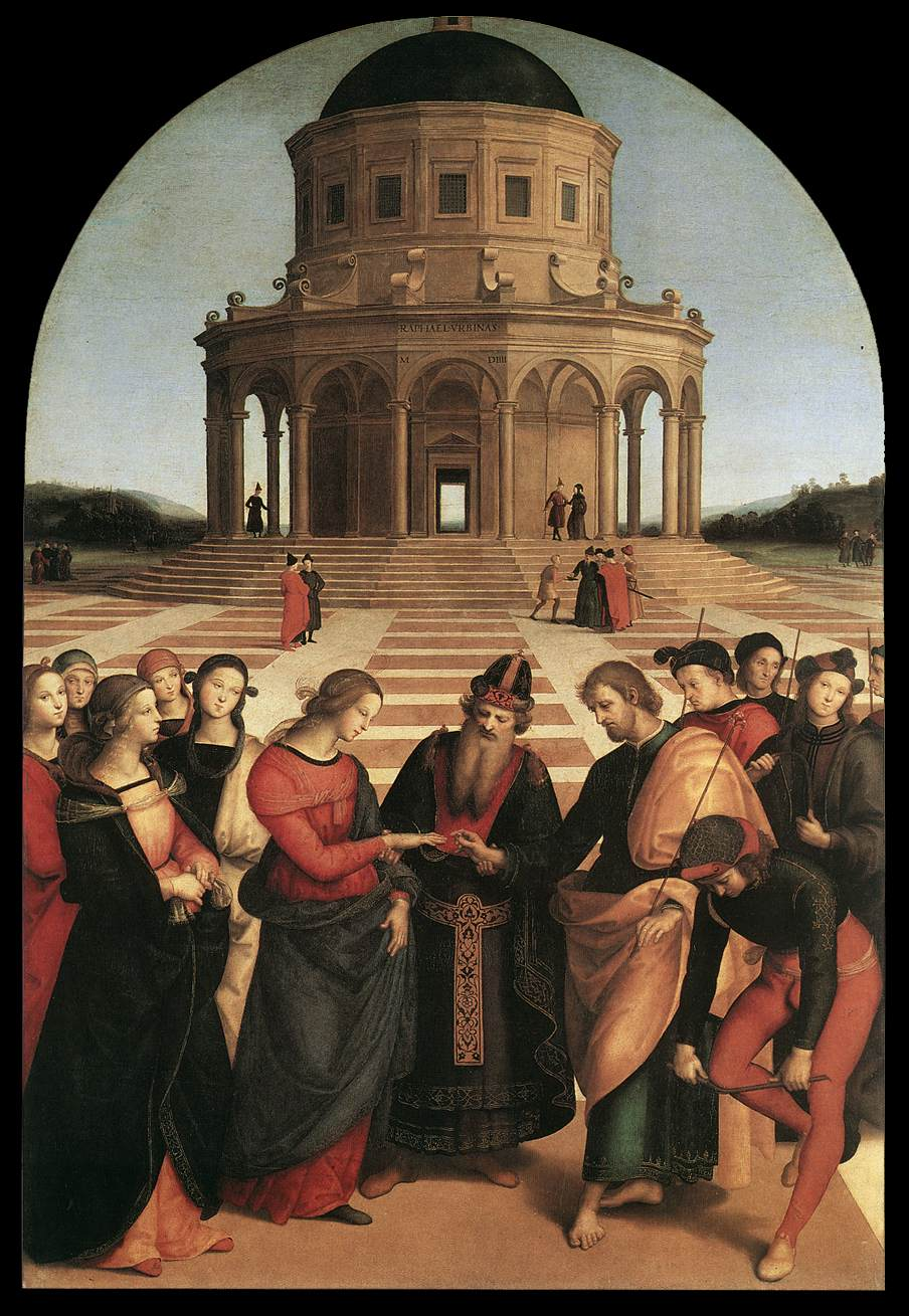 Joseph & Mary get married. Image located on Web Gallery of Art at https://www.wga.hu.