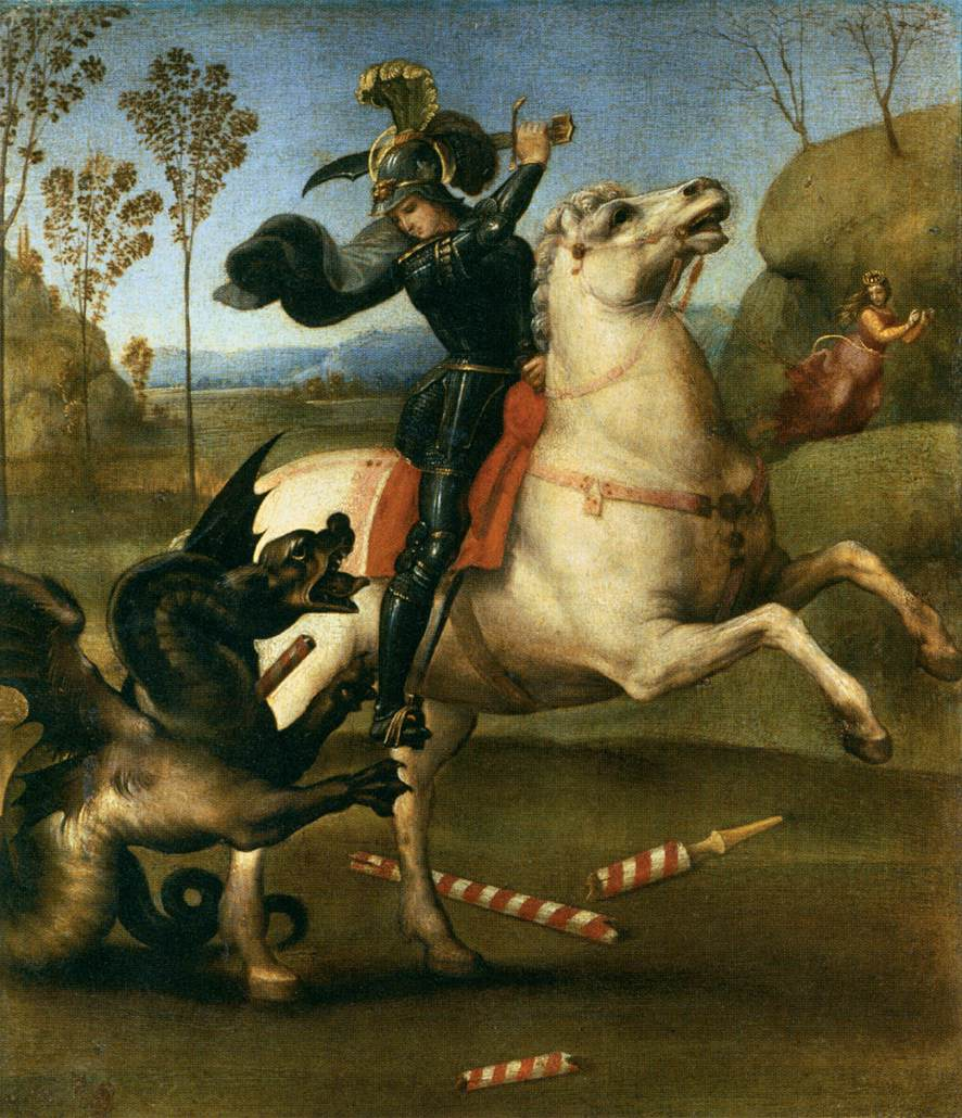 Saint George and the dragon raphael