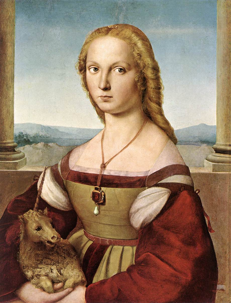 File:Lady with unicorn by Rafael Santi.jpg - Wikimedia Commons