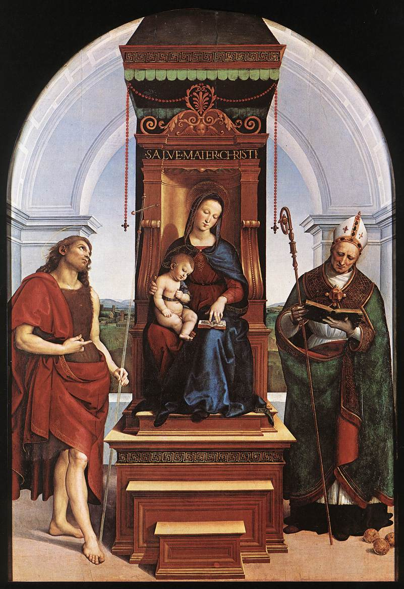 Raphael, (1505) Ansidei Madonna, National Gallery, London