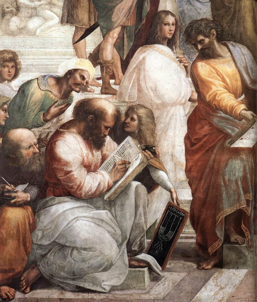 The School of Athens (detail) by RAFFAELLO Sanzio