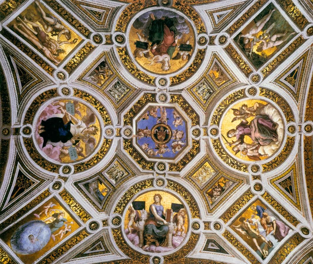 Stanza della Segnatura: ceiling frescoes