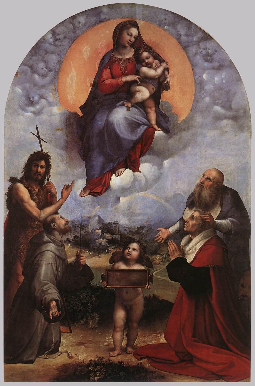 the madonna of foligno by raffaello sanzio
