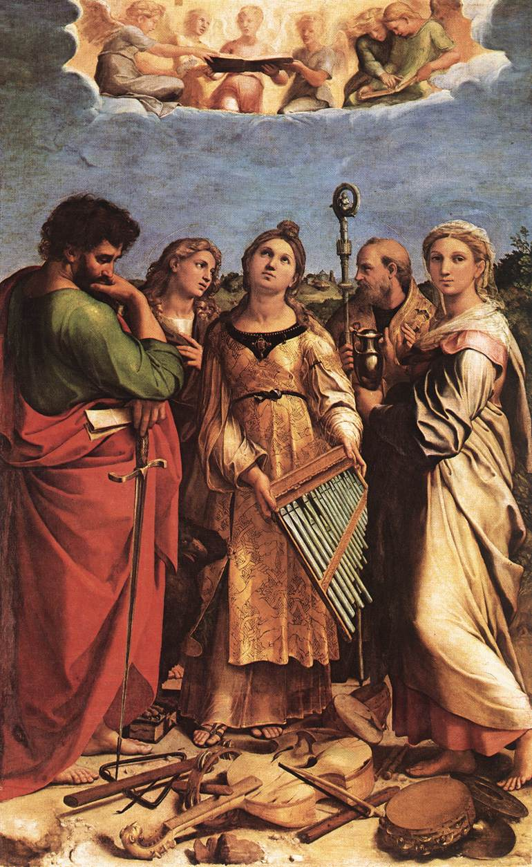 St cecilia by raffaello sanzio for La table saint raphael