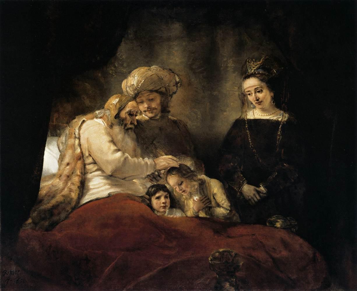 יעקב מברך את אפרים ומנשה - רמברנדט