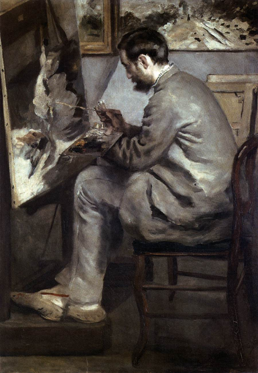 Frdric bazille at his easel by renoir pierre auguste for Auguste renoir paris