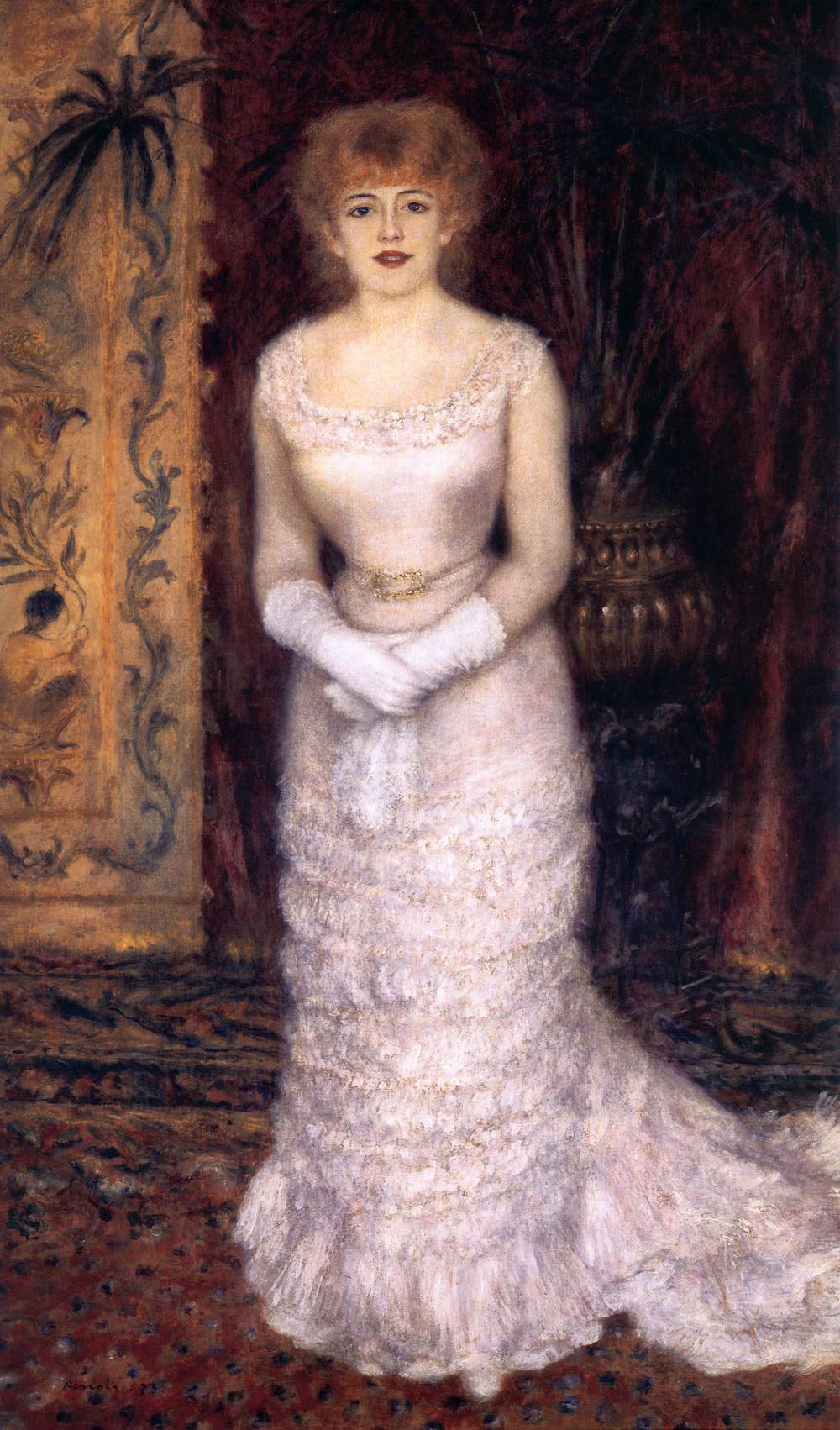 Portrait of the actress jeanne samary by renoir pierre for Auguste renoir