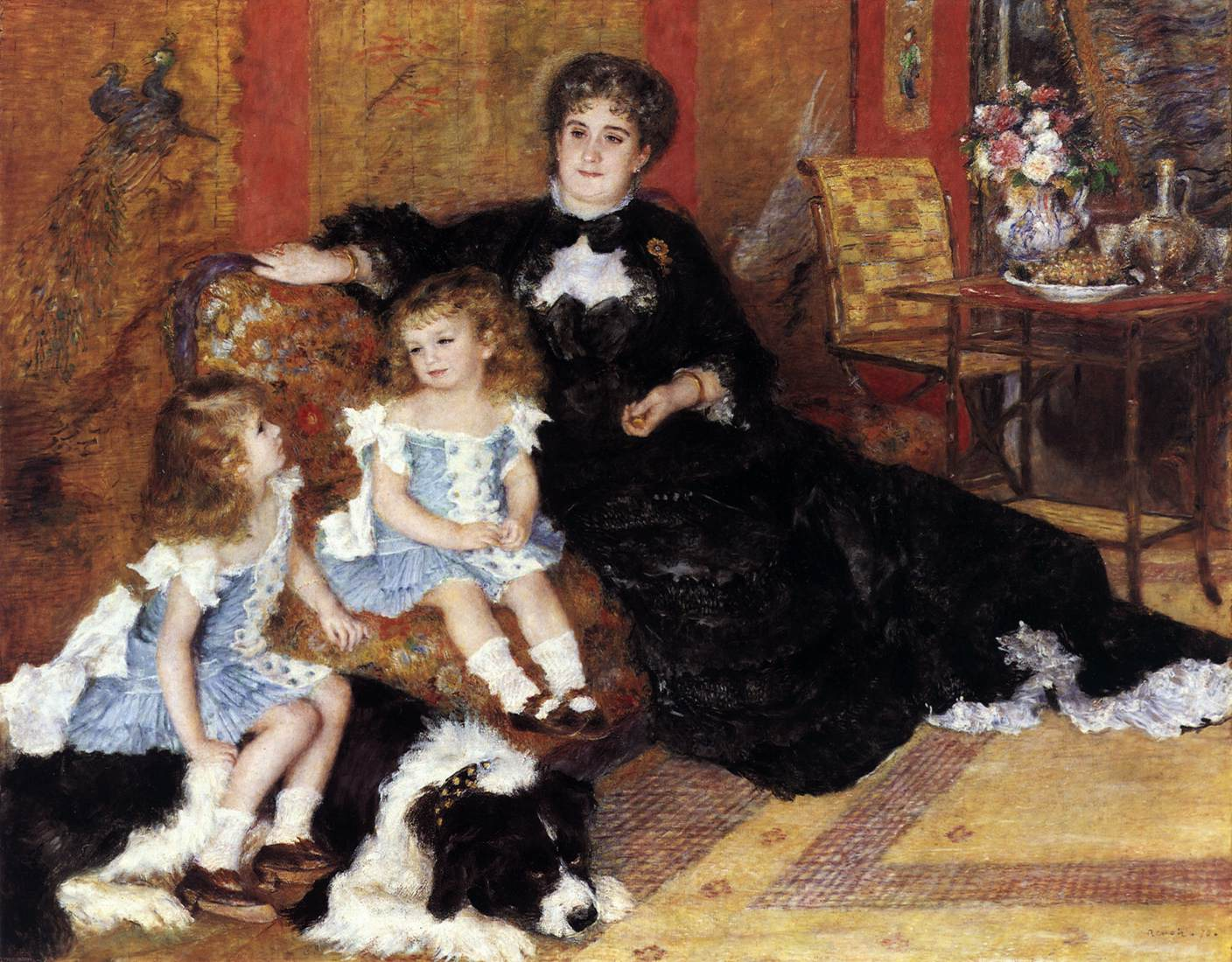 Madame georges charpentier and her children by renoir for Auguste renoir paris