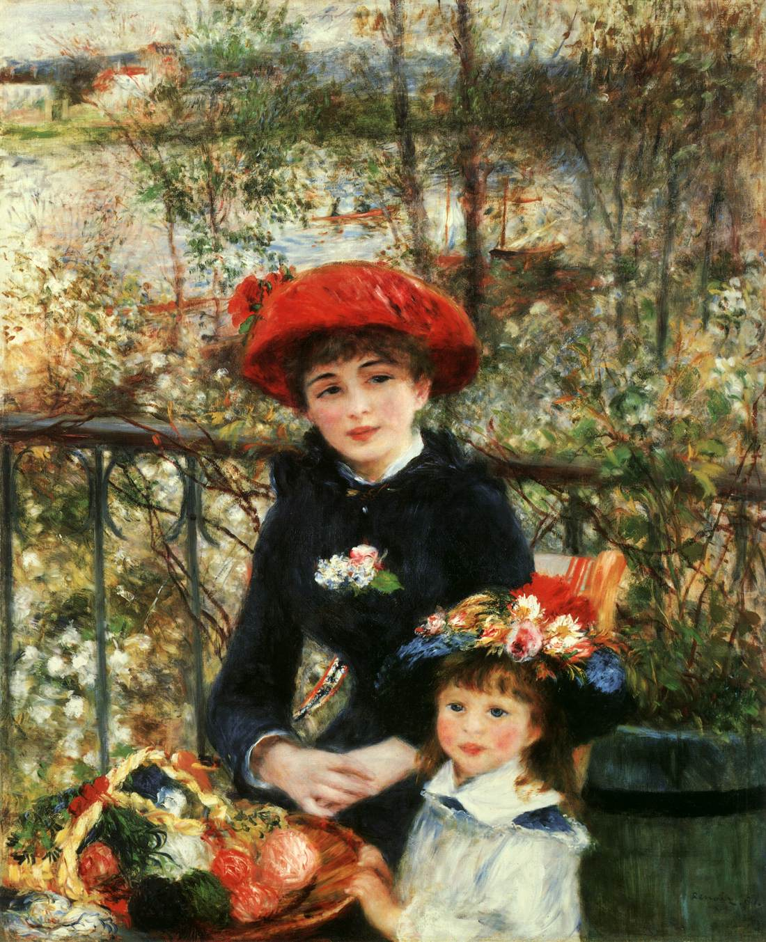 Two sisters on the terrace by renoir pierre auguste for Paintings by renoir