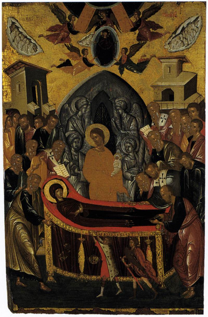 the dormition of the virgin by ritzos andreas